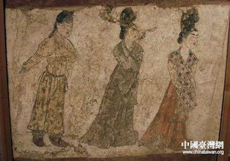 将参展的珍贵文物盛装仕女-法门寺地宫文物展品在台北历史博物馆开箱图片
