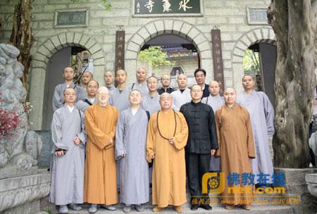 杭州佛学院研究生参访团一行到河南参学