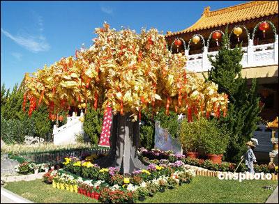 美国洛杉矶西来寺中国春节 披新装