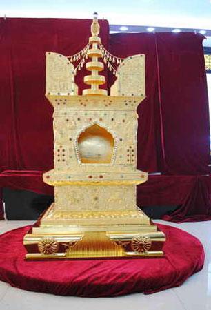 特制供奉佛顶骨舍利的阿育王塔在南京问世 - 明藏道妙 - 上塔山房de博客