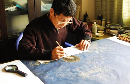 蜀锦精品:《无量寿佛图》 - 明藏菩萨 - 上塔山房de博客